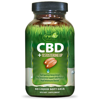 CBD + Testosterone UP, 60 Liquid Soft-Gels, Irwin Naturals