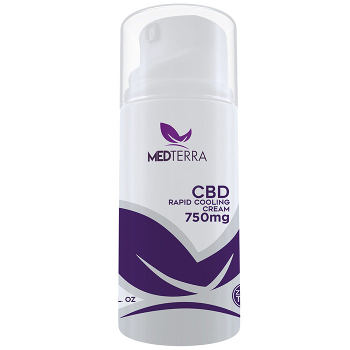 CBD Topical Cooling Cream 750 mg, CBD Lotion, 3.4 oz, Medterra
