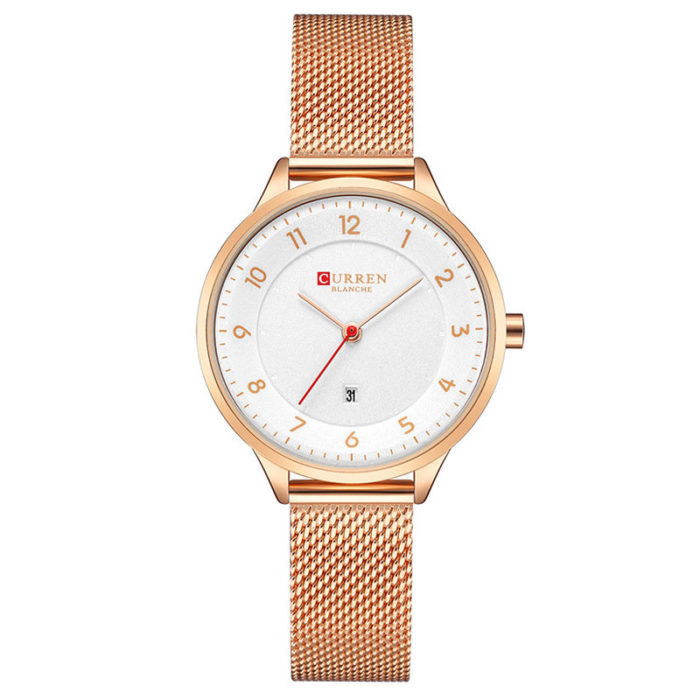 CURREN Womens Ultra Thin Quartz Watches Classic Stainless Steel Strap Life Waterproof Luxury Watches