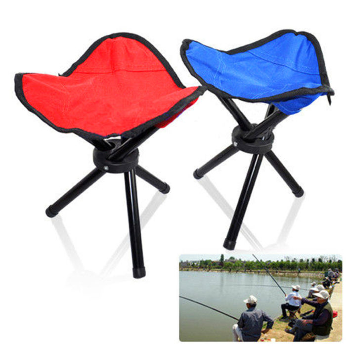 Camping Hiking Fishing Tripod Chair Picnic BBQ Folding Foldable Stool Seat