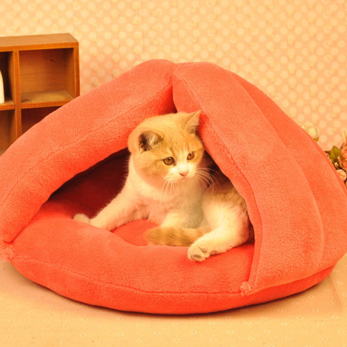 Cat Dog House Puppy Sleeping Bed Cushion Mat Pad Cave Pet Igloo Soft Kitten Nest Home