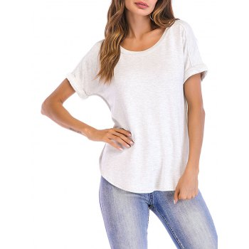 Cuffed Sleeve Casual T shirt