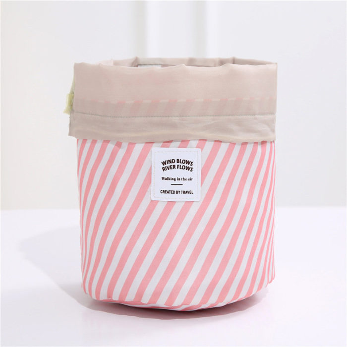 Cylinder Makeup Bags New Oxford Cloth Travel Storage Bag Cosmetic Bag Drawstring Cosmetic Bag