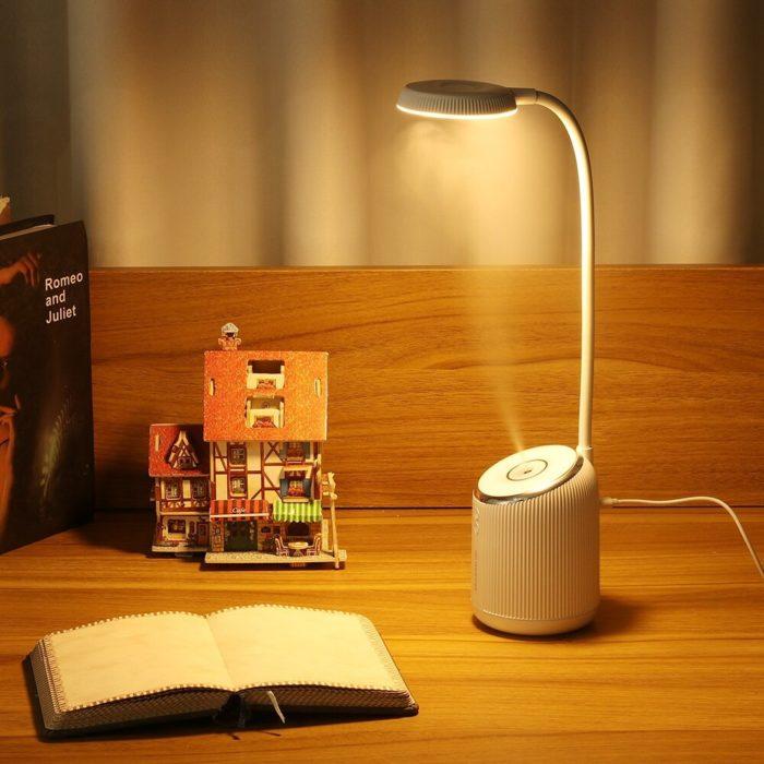 DIGOO DG-TD09 2W 280ML USB Charing Table Lamp Humidifier Bedroom Night Light 360° Adjustment