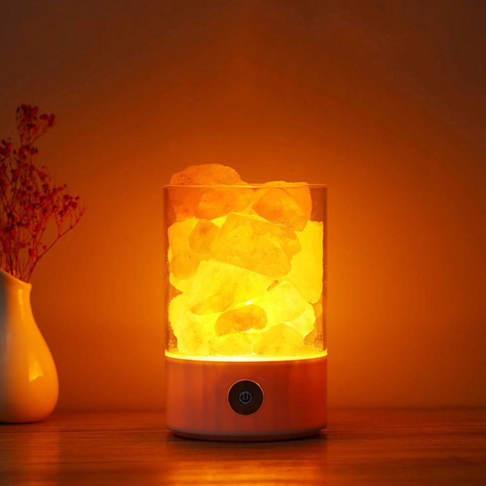 DecBest Natural Himalayan Salt Lamp Unique Crystal Salts Night Light Home Bedroom Lighting Decor