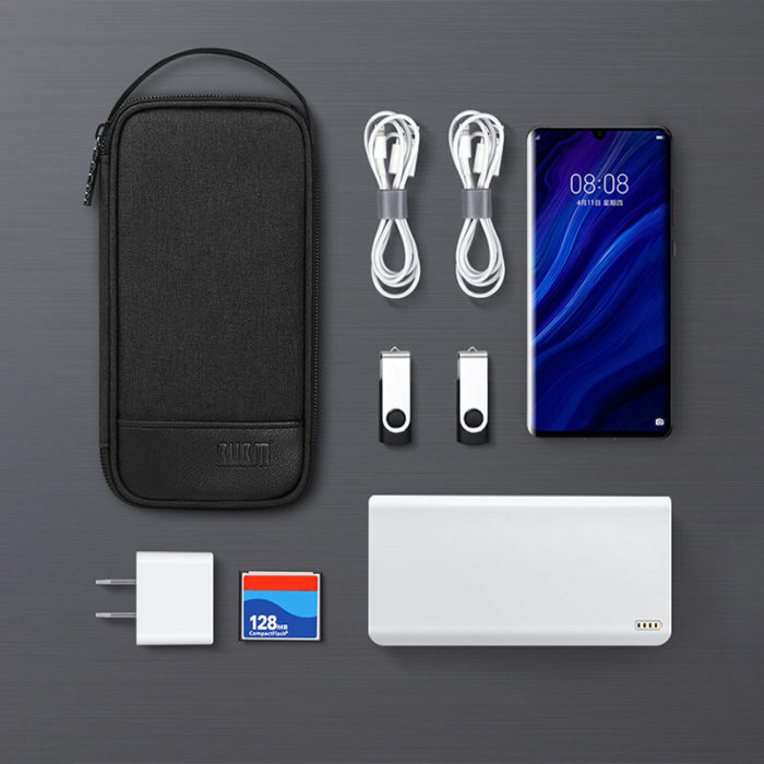 Digital Storage Bag 4W Charging Treasure Data Cable Headset Storage Bag