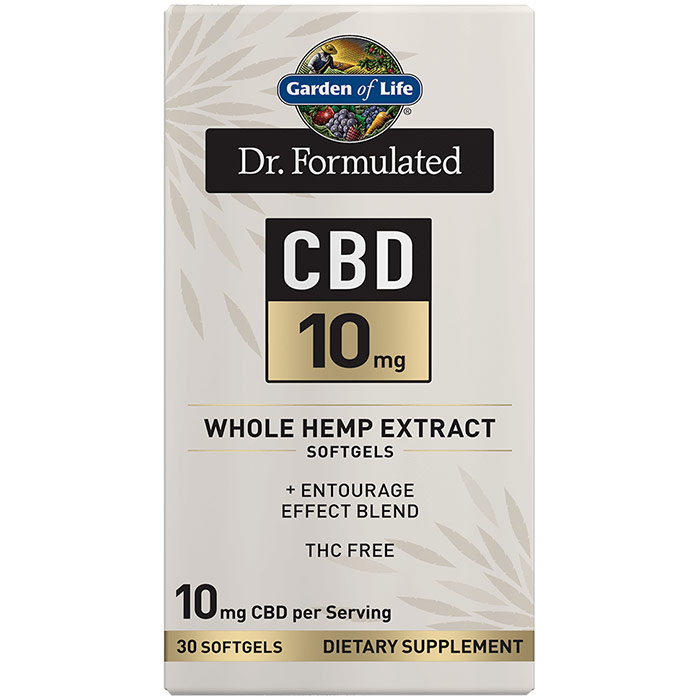 Dr. Formulated CBD 10 mg Whole Hemp Extract Softgels, 30 Softgels, Garden of Life