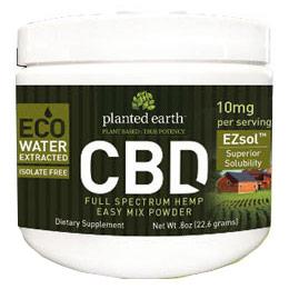 EZsol CBD Hemp 10 mg, 23 g, Planted Earth