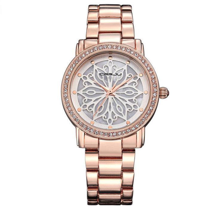 Elegant Unique Snowflake Dial Womens Watches Dazzling Diamond Life Waterproof Quartz Watches