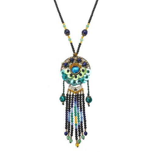 Ethnic Retro Necklace Vintage Beads Jade Necklace