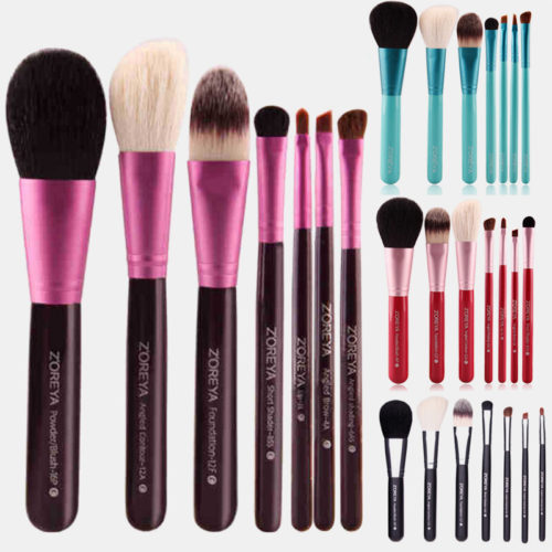 Face Makeup Brush Set Artificial Fiber Concealer Brush Eyeshadow Brush Lip Brush Loose Powder Brush