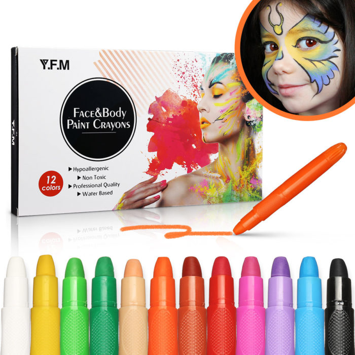 Face Paint Crayon Body Painting Pen Safety Colorful Facial Painting Pen Temporary Body Art