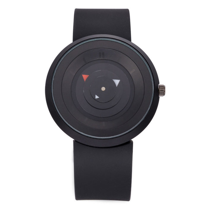 Fashion Unisex Quartz Wristwatch Silicone Strap Concise Second Disk Creative Watches for Women Men