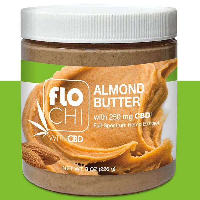 FloChi CBD Almond Butter Spread, 250 mg CBD, 8 oz (226 g), Irwin Naturals