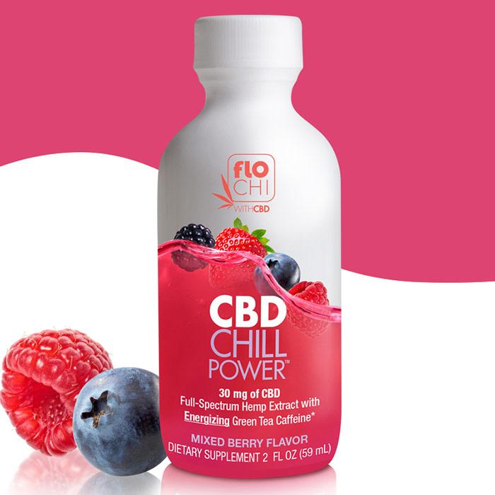 FloChi CBD Chill Power - Mixed Berry Flavor, 30 mg CBD, 2 oz, Irwin Naturals