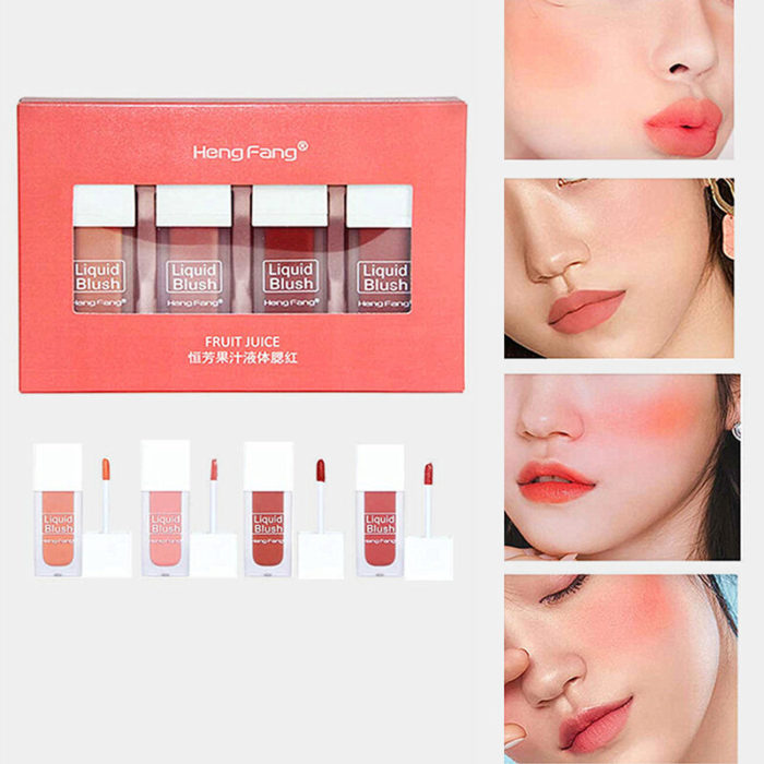 Fruity Liquid Blush Kit Silky Long Lasting Natural Juice Blush Cheek Face Contour Make Up