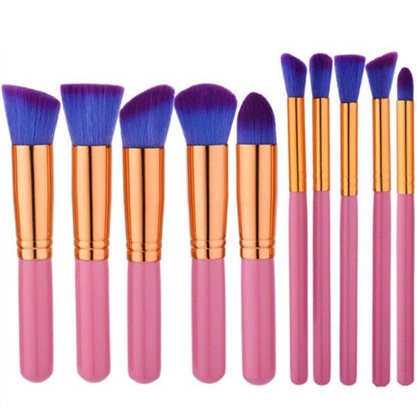 GUJHUI 10 Pcs Makeup Brushes Set Eye Shadow Foundation Eyebrow Lip Brush Skin-friendly