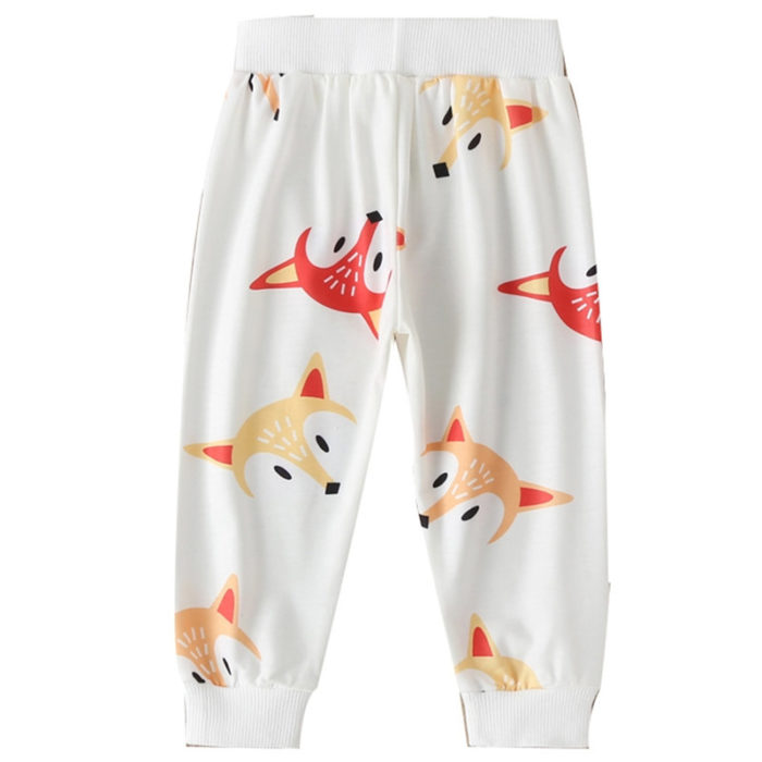 Girl's and Boy's Animal Cartoon Print Casual Pants For 1-7Y