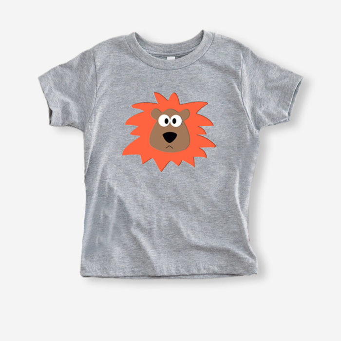 Girl's and Boy's Bear Cartoon Print Short Sleeves Casual T-shirt For 1-8Y