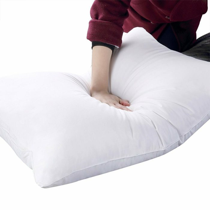 Goose Down and Feather Bed Pillows for Sleeping Bedding Throw Pillows Velvet Cotton Filled Bedding Hotel Pillow