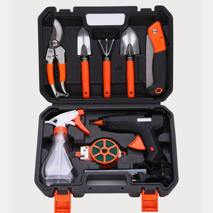 Hardware Tool Box Garden Gardening Tool Combination Set Electric Glue Set Garden Planting Tools