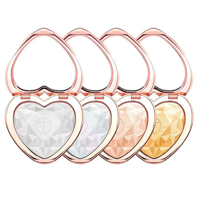 Heart Shimmer Highlighters Palette Lasting Glow Face Highlighter Powder For 3D Face Makeup