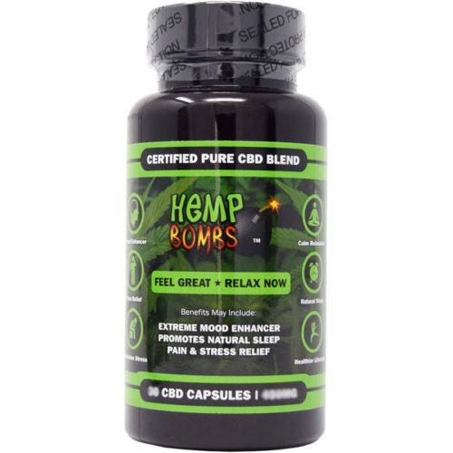 Hemp Bombs CBD Capsules, Certified Pure CBD Blend, 25 Capsules
