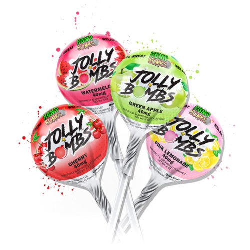 Hemp Bombs CBD Lollipops - Jolly Bombs, 2 Pack