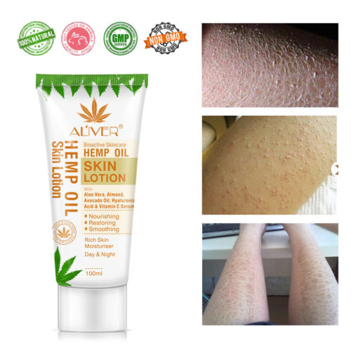Hemp Seed Oil Body Milk Vitamin Nourishing Moisturizing Lotion Natural Bioactive Skincare Cream