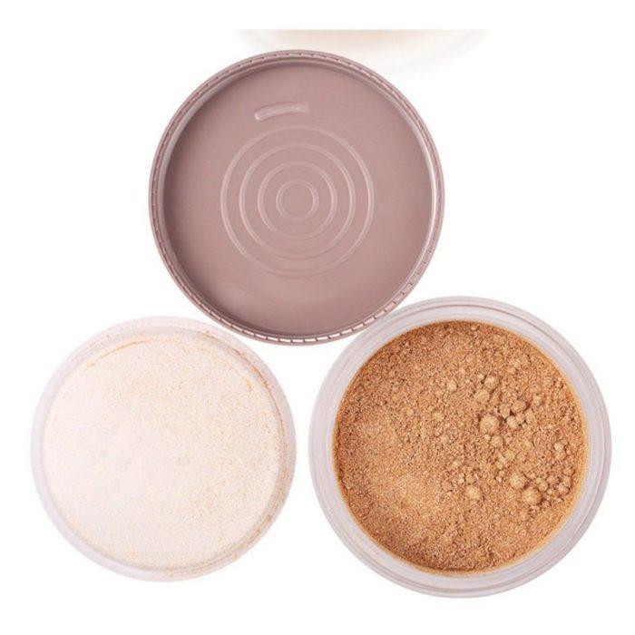 Highlighter Loose Powder Brighten Skin Color Face Foundation Setting Powder Women Makeup Comestic