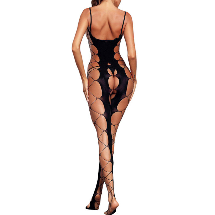 Hollow Out Open Crotch Backless Bodystockings Sling Sexy Lingerie
