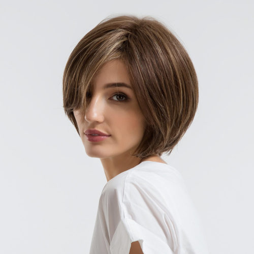 Human Hair Short Wigs Human Hair Synthetic Fiber Wigs Female Hair Styling Wigs 30cm