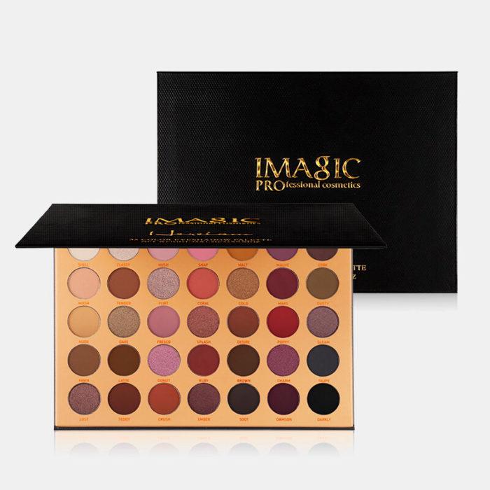 IMAGIC 35 Colors Nude Matte Eyeshadow Palette Glitter Waterproof Long-lasting Eyeshadow Palette
