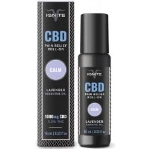 Ignite CBD Pain Relief Roll-On 1000 mg, Calm, Lavender, 10 ml