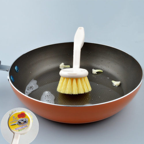 Japanese Style Simple Style White Pot Cleaning Brush