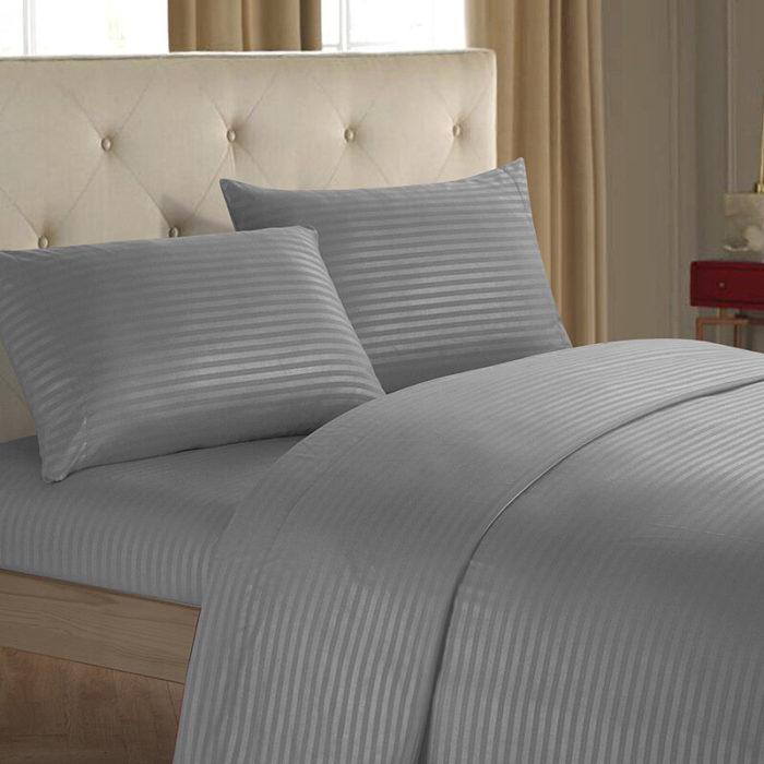 King Queen Size Home Textile Brief Nordic Bedding Set Men Women Bed Linen Black White Microfiber Striped Bed Sheet Pillo