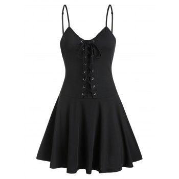 Lace up Slip Dress