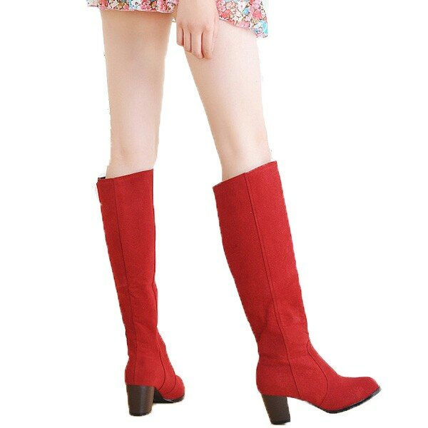 Large Size Casual Over The Knee Slip On Boots