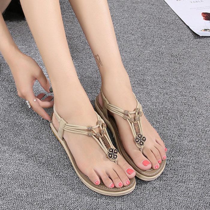 Large Size Women Comfy Soft Beach Flip Flops Sandals