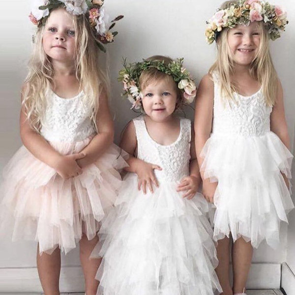 Layered Toddler Girls Tulle Patchwork Tutu Princess Dress For 2Y-9Y