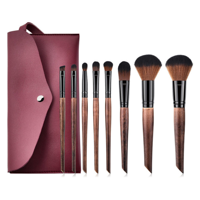 Luxurious Makeup Brushes Set With Cosmetic Bag Soft Hair Face Foundation Powder Eyebrow Brushes