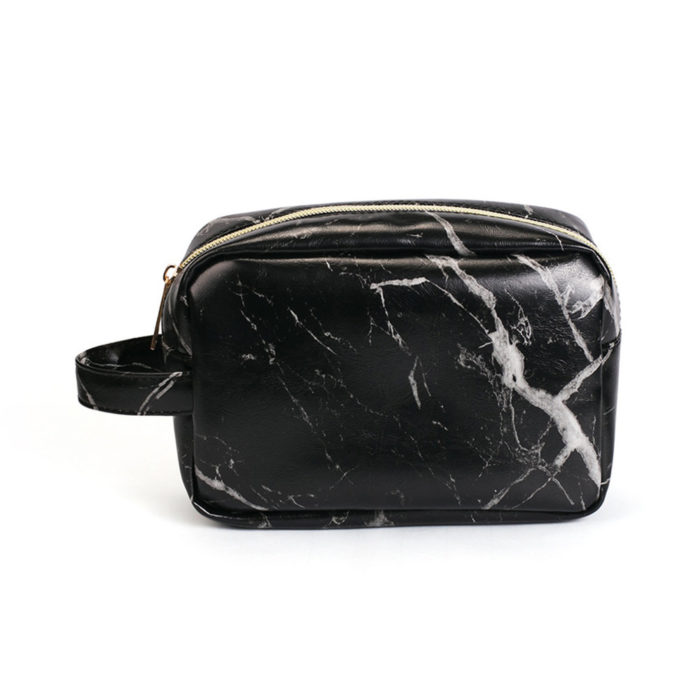 Marble Lazy Makeup Bag Large Capacity Cosmetic Bag Multifunction Portable Storage Bag
