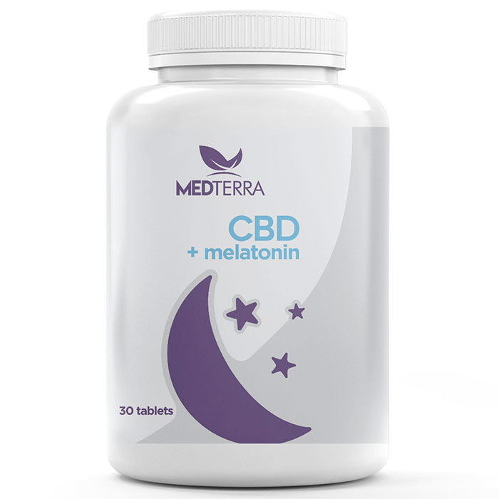 MedOil CBD Dissolvable Sleep Tablet, CBD + Melatonin, 30 Tablets, Medterra
