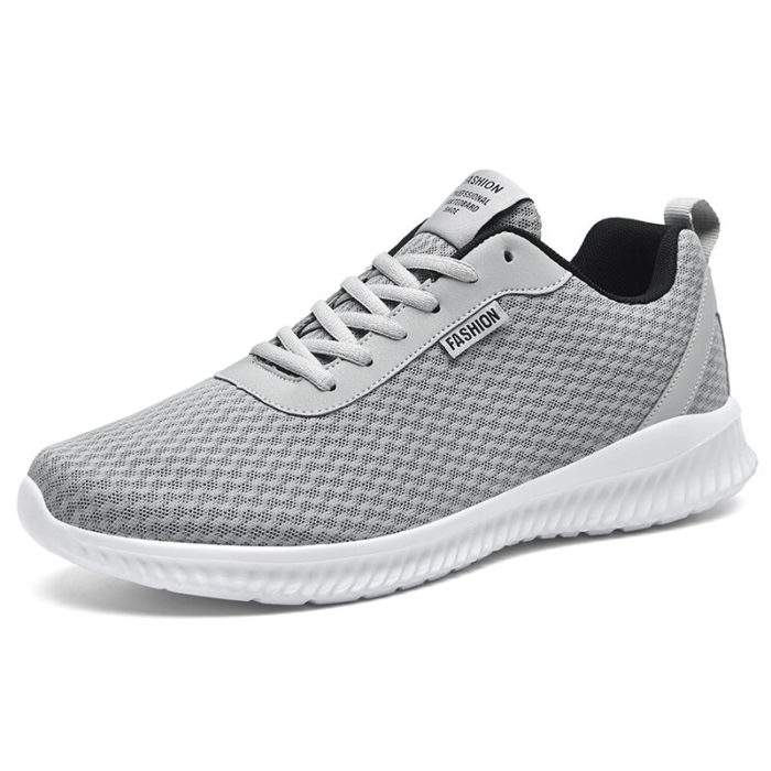 Men Fabric Mesh Comfy Non Slip Breathable Casual Sports Sneakers