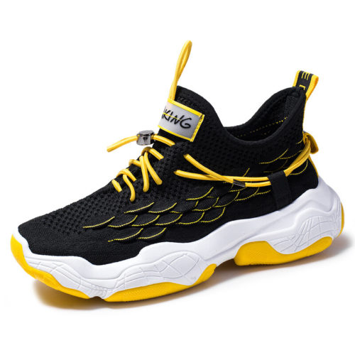 Men Knitted Fabric Comfy Slip Resistant Sports Casual Running Sneakers