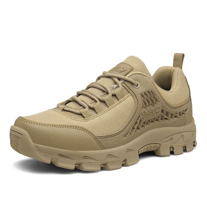 Men Pure Color Cloth Non Slip Outdoor Casual Hiking Sneakers