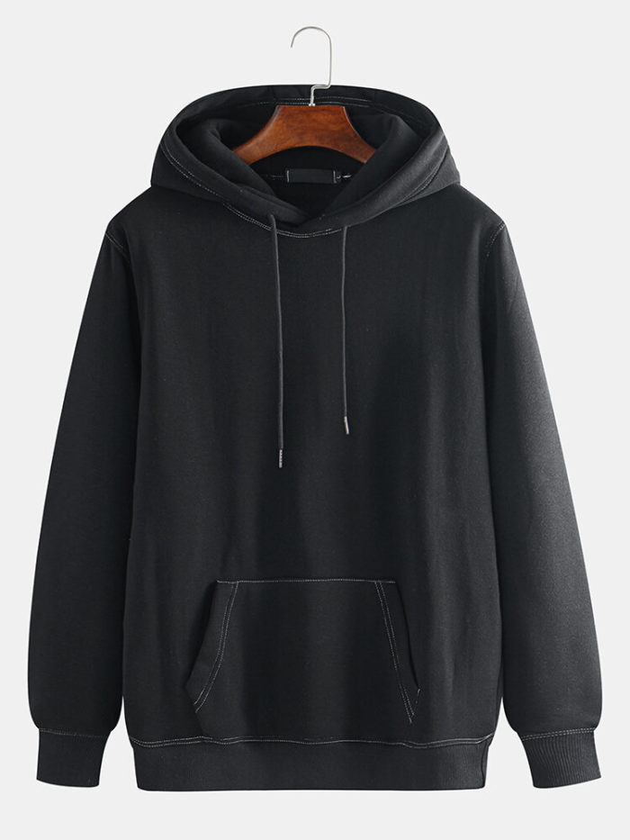 Mens Cool Guys Streetwear Big Pocket Drawsring Hoodies