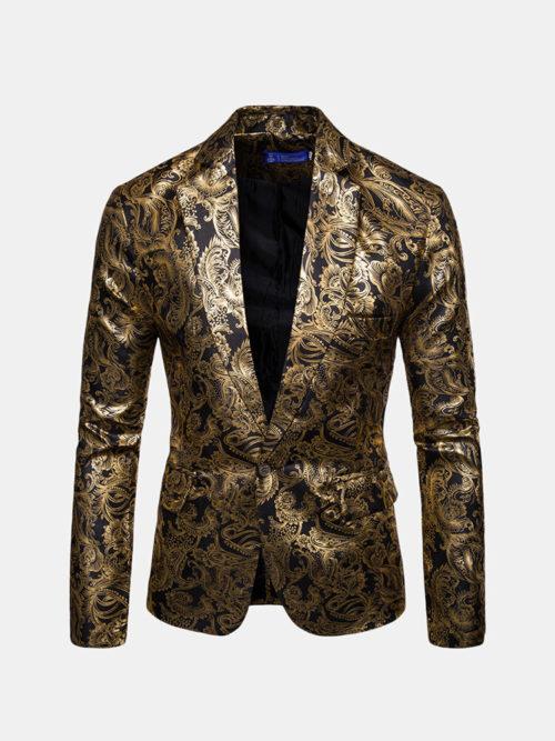 Mens Design Print Design Jackets Casual Slim Fit Suit Blazer