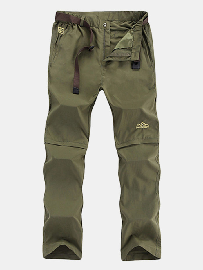 Mens Quick Dry Breathable Water-repellent Detachable Casual Shorts Outdoor Sport Pants