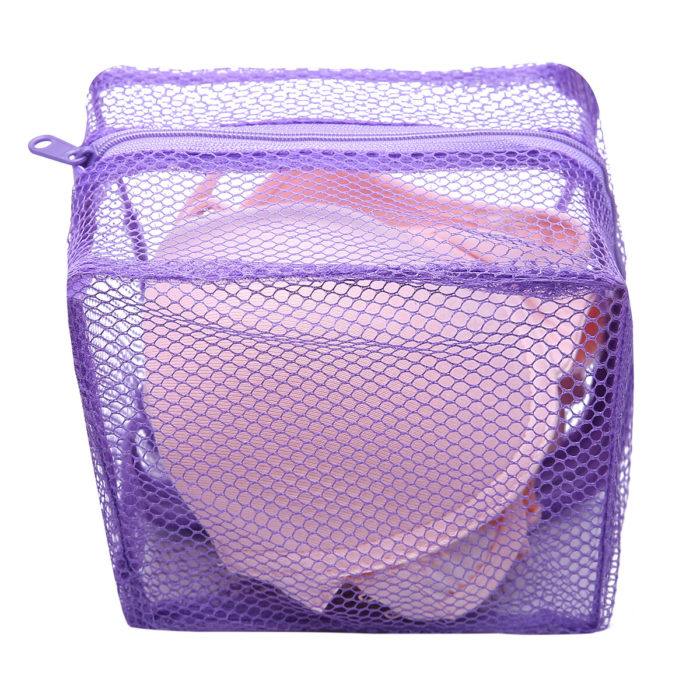 Mesh Laundry Bag Washing Clothes Zipper Solid Net For Bras And Lingerie